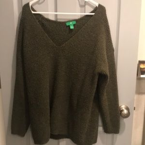 Olive Oversized Pullover Sweater